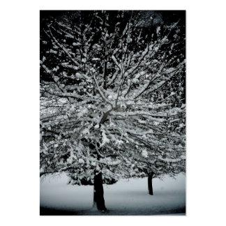 Cromos de colecção escuros e nevado do artista do cartão de visita grande