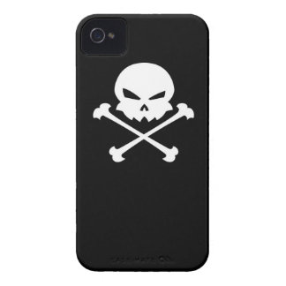 Crossbones do n do crânio capa para iPhone 4 Case-Mate