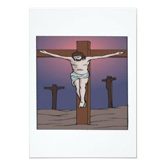 Crucificação Convite Personalizado