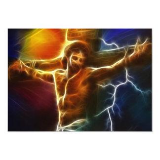 Crucificação de electrificação de Jesus Convite 12.7 X 17.78cm