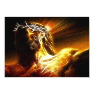 Crucificação dramática de Jesus Convite 12.7 X 17.78cm