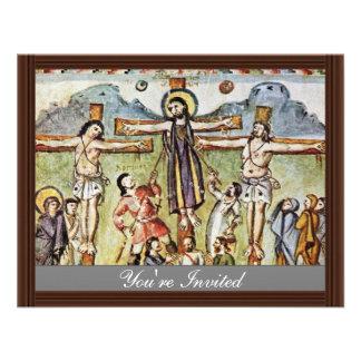Crucificação por DES Rabula-Evangeliums de Meister Convite Personalizado
