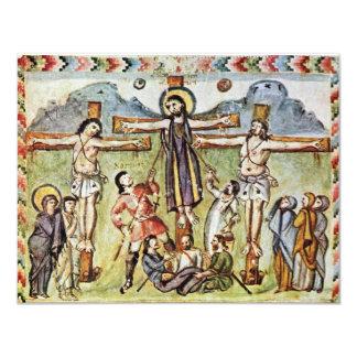 Crucificação por DES Rabula-Evangeliums de Meister Convite 10.79 X 13.97cm