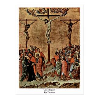 Crucificação por Duccio Cartão Postal