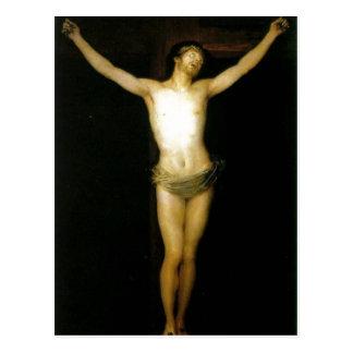 Crucificado de Cristo da descrição sumária. Del de Cartao Postal