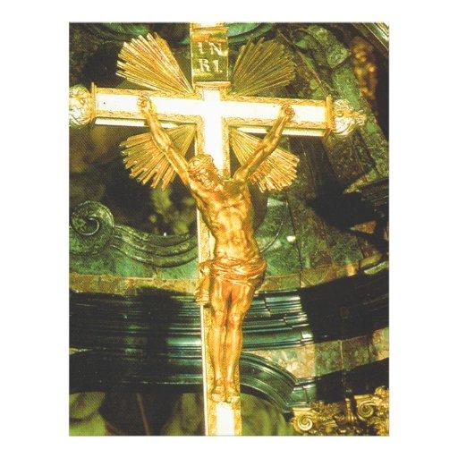 Crucifixo Rococo do estilo em uma igreja bávara Papel De Carta Personalizados