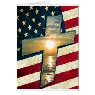 Cruz americana #1 cartão comemorativo
