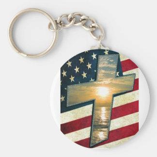 Cruz americana #1 chaveiro