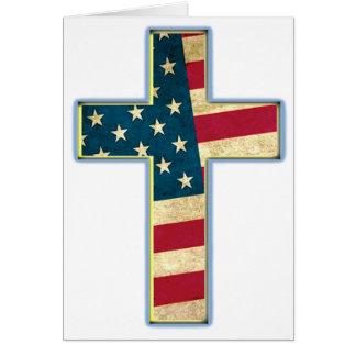Cruz americana #2 cartão comemorativo