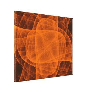 Cruz arredondada eterno abstrata na laranja