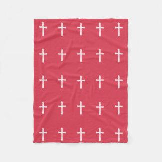Cruz branca cobertor de lã