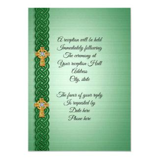 Cruz celta do convite irlandês do casamento