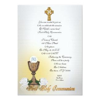 Cruz celta do primeiro convite do comunhão