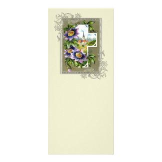 Cruz com igreja e flores 10.16 x 22.86cm panfleto