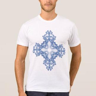 Cruz com o ornamento do Fractal para o Natal Camiseta