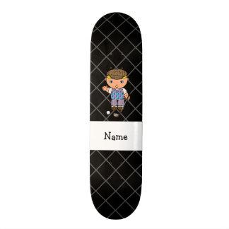Cruz conhecida personalizada dos criss do preto do skate boards