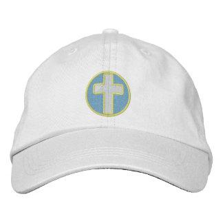 Cruz cristã boné bordado