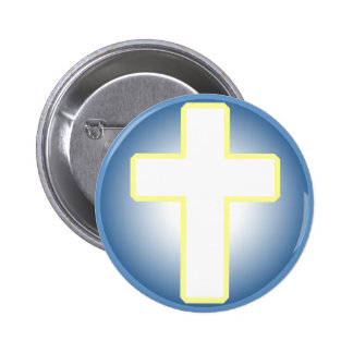 Cruz cristã bóton redondo 5.08cm