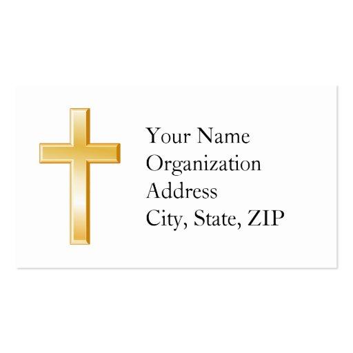 Cruz cristã cartões de visitas