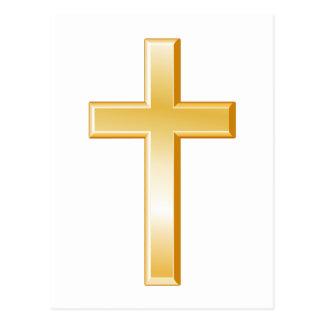 Cruz cristã cartão postal