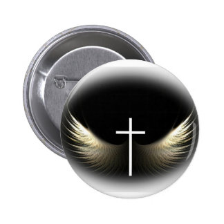 Cruz cristã e Espírito Santo Bóton Redondo 5.08cm