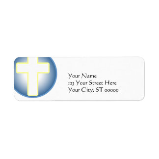 Cruz cristã etiqueta endereço de retorno