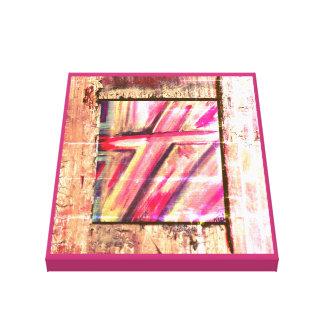 Cruz cura impressão em canvas