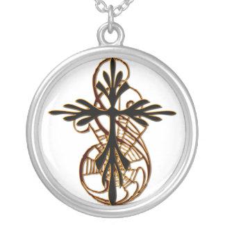 Cruz da aranha colar com pendente redondo