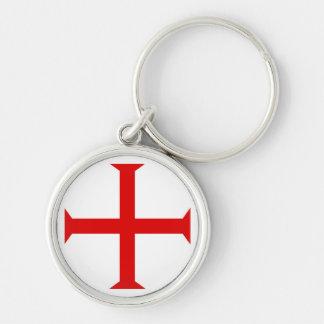 Cruz da circular vermelha do chaveiro
