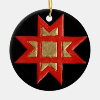 Cruz da estrela ou ornamento de Ausekla Zvaigzne