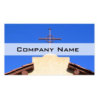 Cruz da igreja cartão de visita