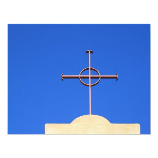 Cruz da igreja convite personalizados