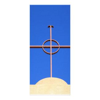 Cruz da igreja modelos de panfletos informativos