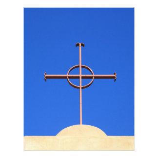 Cruz da igreja papéis de carta personalizados