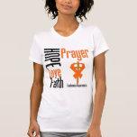 Cruz da oração da fé do amor da esperança da leuce camisetas