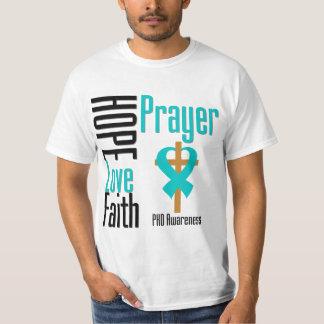 Cruz da oração da fé do amor da esperança de PKD Camiseta
