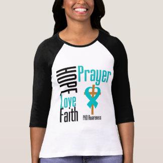 Cruz da oração da fé do amor da esperança de PKD Tshirts