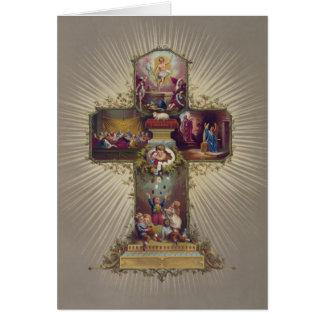 Cruz da páscoa cartão comemorativo