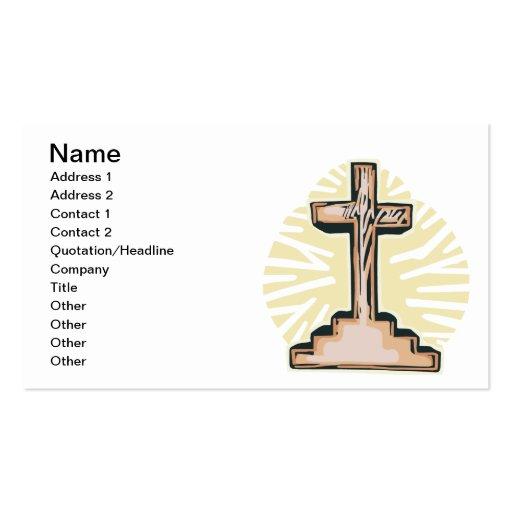 Cruz da páscoa modelo de cartões de visita