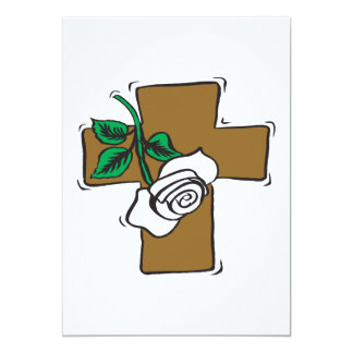 Cruz da páscoa convites personalizado