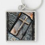 Cruz da proteção chaveiro