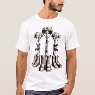 Cruz do campo de batalha camiseta