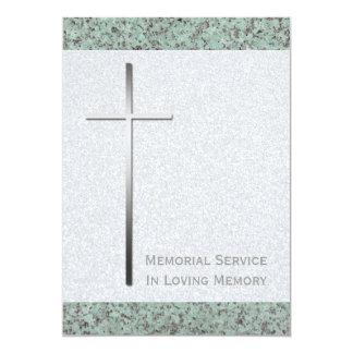 Cruz do metal/cerimonia comemorativa da pedra 2 convites