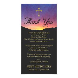 Cruz do ouro & nascer do sol - obrigado da cartão