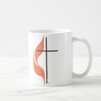 Cruz e chama, ClearwaterUnited MethodistChurch Caneca De Café