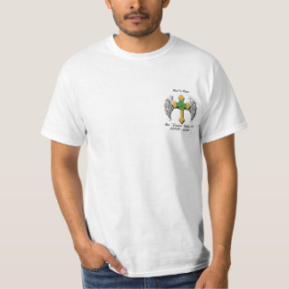 Cruz e trevo do anjo W. de Edward Camisetas
