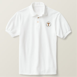 Cruz franciscan da tau - francescana da tau camisa polo bordada