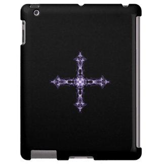 Cruz gótico do roxo do Fractal Capa Para iPad