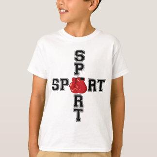 Cruz legal do encaixotamento do esporte camiseta