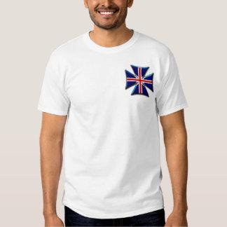 Cruz maltesa do ferro do motociclista britânico de tshirts